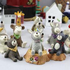 Miniature Animal Bear Fairy Garden Terrarium Figurine Decor DIY Bonsai Craft,x