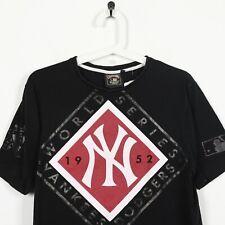 Vintage Cooperstwon Majestic USA New York Yankees grande LOGOTIPO CAMISETA NEGRO | pequeño