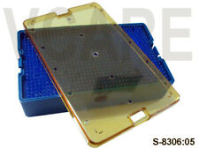 Plastic Sterilization Double Mat Tray Size: 235 x 125 x 38mm Lab Equipment