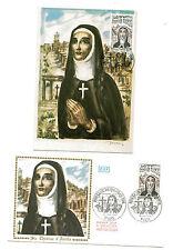 """FRANCE """"  Soeur Thérèse d'Avila """". Carte et envelopp  e 1er jour"""