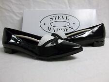Steve Madden Size 6 M Frenchi Black Patent Flats New Womens Shoes
