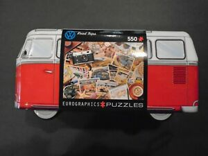 VOLKSWAGEN BUS RED/WHITE TIN 550 PC JIGSAW PUZZLE NWT ROAD TRIP EUROGRAPHICS HTF