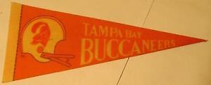 "1970s Tampa Bay Buccaneers NFL Football Mini Pennant 9"""