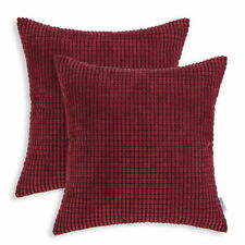 Pack of 2 Cushion Covers Pillows Cases Corduroy Corn Striped Home Decor 66x66