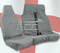 FORD TRANSIT CUSTOM (13-ONWARDS) HEAVY DUTY GREY WATERPROOF VAN SEAT COVERS 2+1
