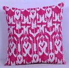 Indian Pink Ikat Kantha Pillow Cover Cushion Case Sofa Cotton Cover Art Decor