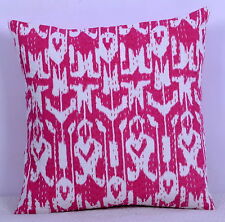 Indian Ikat Kantha Pillow Cover Cushion Cover Sofa Couch Throw Cotton Art Decor