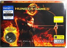 The Hunger Games (2-Disc DVD) Brand New !   Walmart Exc. w/Mockingjay Pendant