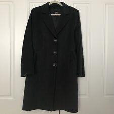 NWOT Cinzia Rocca Womens 14 Charcoal Gray Virgin Wool Coat Jacket
