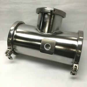 """8"""" x 6"""" Reducing Tee Tri-Clamp Sanitary Fitting Stainless Steel w/Side Port Hole"""