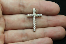 18CT WHITE GOLD CROSS WITH DIAMONDS!!! 0,25CT!!! / RRP~950€