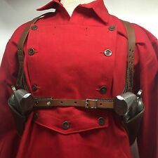 "Colt,Ruger Vaquero,Blackhawk, 51/2"" Western SAA Double Huckleberry Leather Rig"