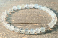 RARE BEAUTIFUL AAA AFRICAN BLUE TOPAZ FACETED CRYSTAL BRACELET