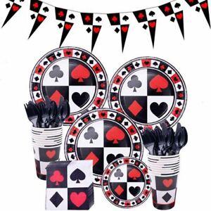 Las Vegas Casino Theme Party Tableware Plates Cups Birthday Supplies Decoration