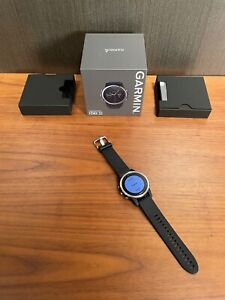 Garmin Fenix 5S Silver with Black band Premium Multisport GPS Watch