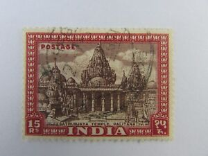 1949 India SC #222 SATRUNJAYA TEMPLE PALITANA Used stamp