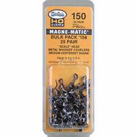 Kadee #150 Bulk Pack - 25 pair #158 Scale Whisker Metal Couplers : HO Scale