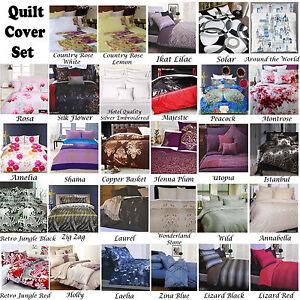 Accessorize Quilt Doona Duvet Cover Set SINGLE DOUBLE QUEEN KING