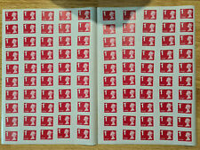 More details for 100 x 1st class large first unfranked stamps self adhesive ready to stick