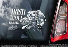 Irish Wolfhound - Car Window Sticker - Wolf Dog on Board Hound Sign Gift - TYP2