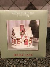 Simple Traditions Holly Lane House by Department 56 Nib Excellent Condition Nice