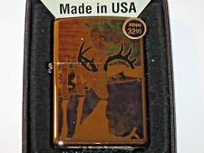 New Windproof Zippo Usa Lighter Fuzion Deer Buck Fever Country point rack Flame