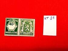 KT 81 - Belgie kopstaande zegels/tembres tête bêche met plakker *