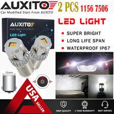 2X AUXITO 1156 7506 BA15S LED White Reverse Light Daytime Running light 12K EA