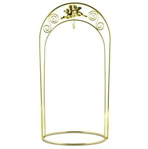 Tall Arched Gold Tone Metal Ornament Stand 12 Inches