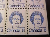 """CANADA STAMPS  #BK75 MINT 1975 """"CARICATURE ISSUES"""" W/QE2 PRINT VARIETY/ERROR"""