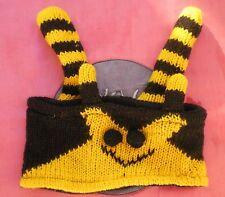 BUMBLEBEE Animal Headband 100% Wool Hand Crocheted Fleece Lining Toddler Size