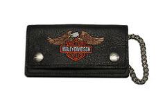 """Harley-Davidson Geldbeutel """"EAGLE"""" gestickt mittel mit Kette *BW808H-4*"""
