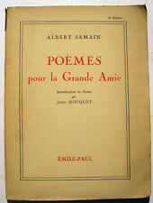 SYMBOLISME/SAMAIN/POEMES POUR LA GRANDE AMIE/1943