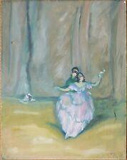 Danseuse Opéra Peinture de Charles GIR datée 1920 Art Deco Pierrot
