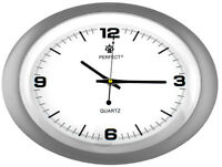 Oval Wall Clock - PERFECT - Silent Sweep , Easy-to-read Dial