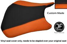 BLACK & ORANGE VINYL CUSTOM FITS HONDA CBR 600 RR RR5 RR6 05-06 FRONT SEAT COVER