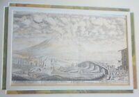 Incisione su rame 1660 ca. Vesuvio Eruzione del 1631 di Joachim Von Sandrart