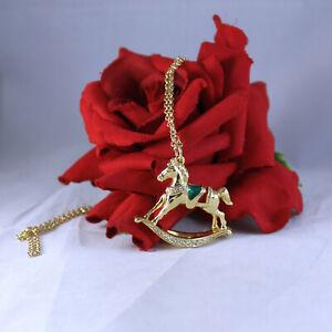 Gorgeous Swarovski Carousel Horse Necklace  CAT RESCUE