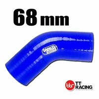 """Silicone Turbo Air Pipe Elbow Radiator Hose 45 Degree Bend 68mm 2.68"""""""