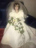 Danbury Mint Princess Diana Doll Porcelain Wedding/Bride Doll.