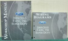 2 Shop Manuals for the 2009/2010 FORD F-650, 750 Super Duty