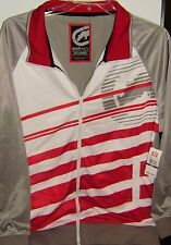 Ecko Unltd. Mens Poly Tricot Track Jacket Size M,L,XL,2XL,3XL Color Gray,Red Wht