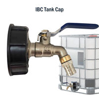 "IBC Tank Adapter to 3/4"" Lever Brass Garden Tap Valve Tap Outlets Fitting AU"