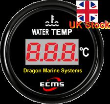 Medidor Digital De Temperatura De Agua Marina 12/24 V Dial Negro a Prueba De Agua