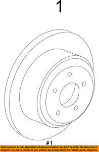 FORD OEM Rear Brake-Rotor CL1Z2C026A