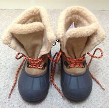 BOY'S NEXT FLEECE LINED CASUAL BOOTS - SIZE 9 INFANT (EXCELLENT CONDITION)