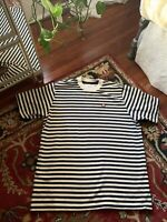Men's Teddy Fresh Bear Logo Vintage Stripe Ringer T Shirt Size M
