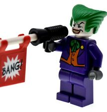 The Joker DC Comics Super Heroes 7782 7888 bat005 +Bang Gun Rare LEGO Minifigure