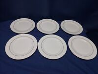Gibson Designs Housewares Set/6 Salad Plates White/Gold Trim