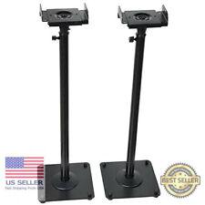 Adjustable Height Universal Home Theater Satellite Speaker Stands Holder Rack